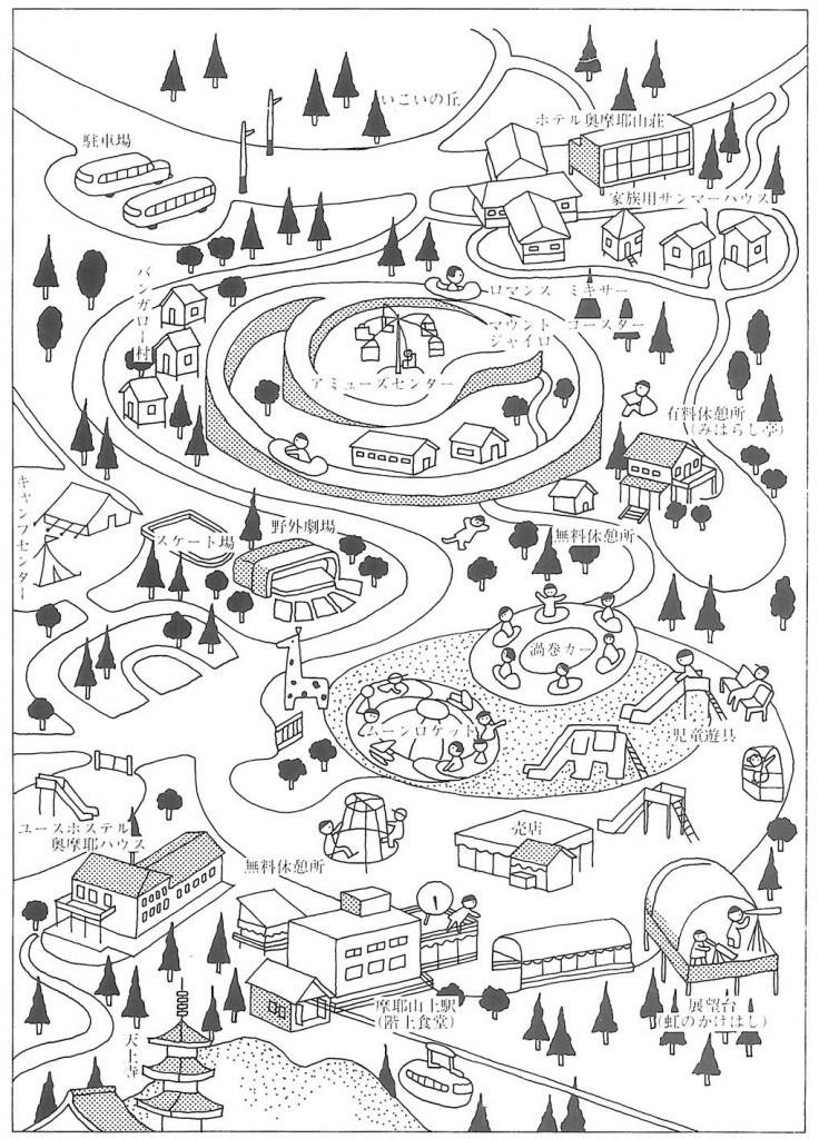 奥摩耶遊園地マップ