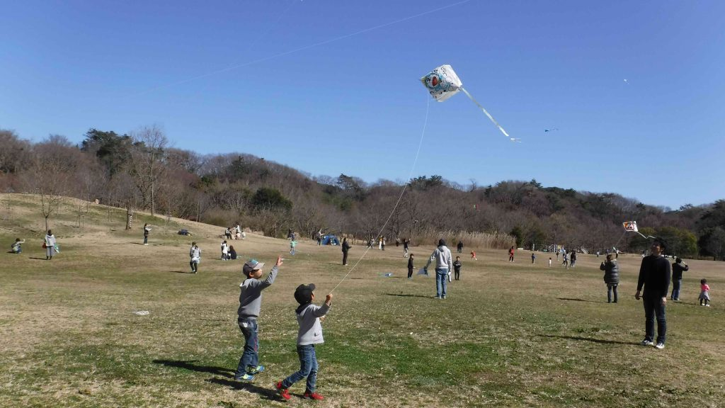 春の空高く みんなで凧をあげよう @ 神戸市立森林植物園
