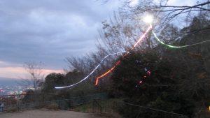 スマホで操作できるクリスマス電飾の点灯式 @ 摩耶ケーブル「虹の駅」展望広場